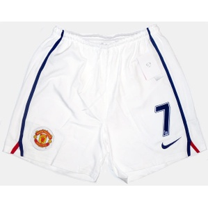 2008-09 Manchester United Player Issue Away Change Shorts #7 (Ronaldo) *W/Tags* XXL