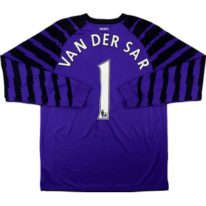 2010-11 Manchester United Purple GK Shirt van der Sar #1 (Excellent) M