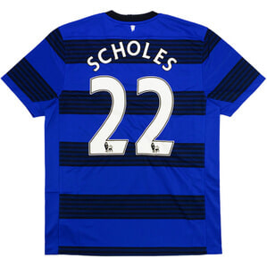 2011-13 Manchester United Away Shirt Scholes #22 (Excellent) XXL