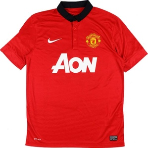 2013-14 Manchester United Home Shirt (Excellent) M