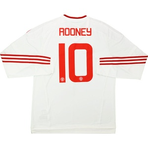 2015-16 Manchester United Away L/S Shirt Rooney #10 *w/Tags*