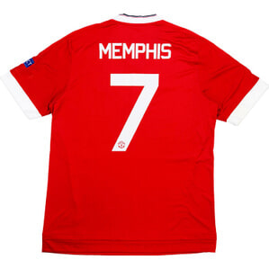 2015-16 Manchester United Home Champions League Shirt Memphis #7 *As New* M