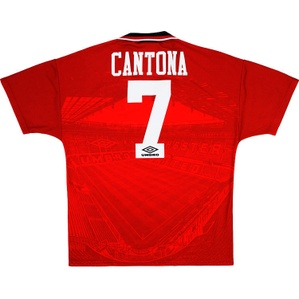 1994-96 Manchester United Home Shirt Cantona #7 (Excellent) XL