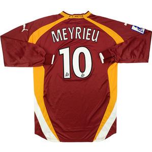 2000-01 Metz Match Issue Home L/S Shirt Meyrieu #10