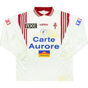 1997-98 Metz Match Issue Coupe de France Away L/S Shirt #6 (Boffin) v Le Mans