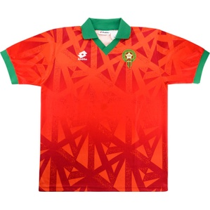 1995-96 Morocco Match Issue Home Shirt #3 (Triki)