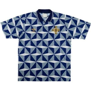 1990-92 Northern Ireland Away Shirt (Very Good) L