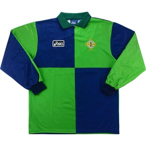 1998 Northern Ireland Match Issue Home L/S Shirt #16 (v Switzerland)