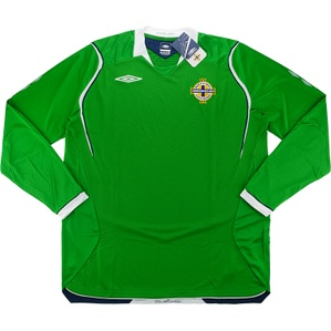 2008-10 Northern Ireland Home L/S Shirt *BNIB* XL