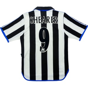 2000-01 Newcastle Home Shirt Shearer #9 (Very Good) L
