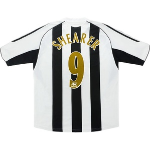 2005-06 Newcastle Home Shirt Shearer #9 (Very Good) M