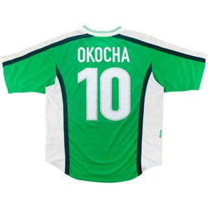 1998-00 Nigeria Home Shirt Okocha #10 (Excellent) M