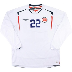 2006-08 Norway Match Issue Away L/S Shirt #22