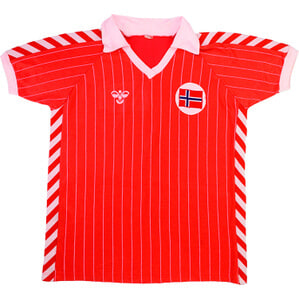 1983 Norway Match Worn Home #6 (Albertsen) v Wales