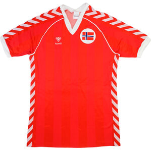 1985 Norway Match Worn Home #6 (Davidsen) v Wales