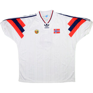 1993 Norway Match Worn Away Shirt #6 (Flo) v Holland