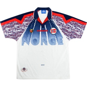 1997-98 Norway Away Shirt (Excellent) XL