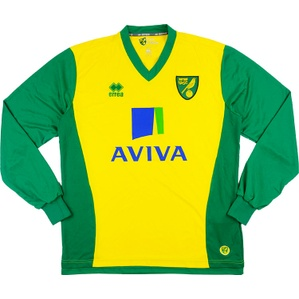 2013-14 Norwich Home L/S Shirt *As New*