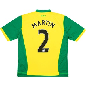 2013-14 Norwich Home Shirt Martin #2 *As New* S