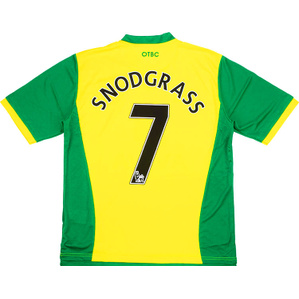 2013-14 Norwich Home Shirt Snodgrass #7 *BNIB* S