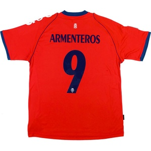 2012-13 Osasuna Home Shirt Armenteros #9 *w/Tags*