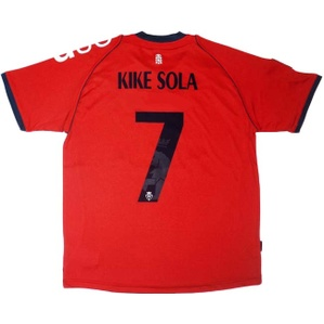 2012-13 Osasuna Home Shirt Kike Sola #7 *w/Tags* M