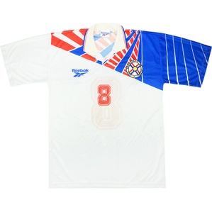 1998 Paraguay Match Issue Away Shirt #8 (Rojas) v Belgium