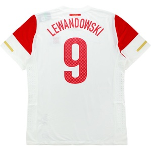 2010-11 Poland Player Issue Home Shirt Lewandowski #9 *w/Tags* XXL