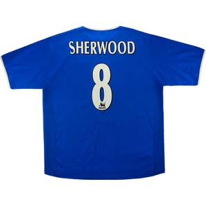 2003-05 Portsmouth Home Shirt Sherwood #8 *Mint* XL