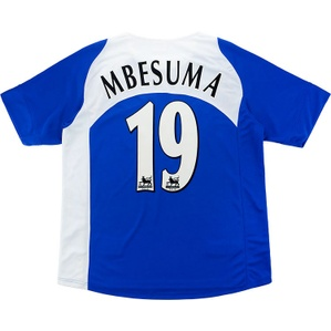 2005-06 Portsmouth Home Shirt Mbesuma #19 (Very Good) S