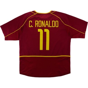2002-04 Portugal Home Shirt C.Ronaldo #11 (Very Good) L