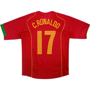 2004-06 Portugal Home Shirt C.Ronaldo #17 (Excellent) L