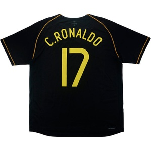 2006-07 Portugal Away Shirt C.Ronaldo #17 (Excellent) L