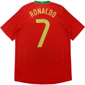 2008-10 Portugal Away Shirt Ronaldo #7 (Excellent) M