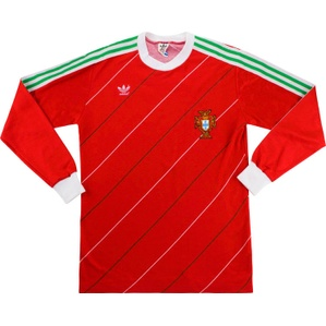 1986 Portugal Match Worn Home L/S Shirt #7 (Jaime Pacheco) v Finland