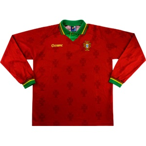 1995 Portugal U-21 Match Worn Home L/S Shirt #14 (v Ireland)
