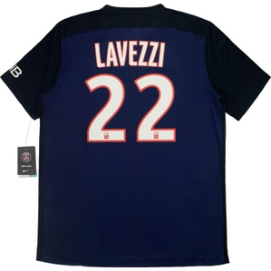 2015-16 Paris Saint-Germain Home Shirt Lavezzi #22 *w/Tags*