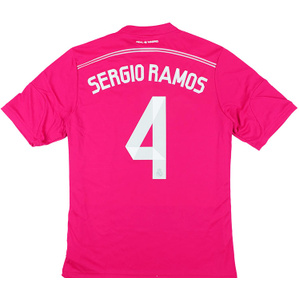2014-15 Real Madrid Away Shirt Sergio Ramos #4 *w/Tags* XXL