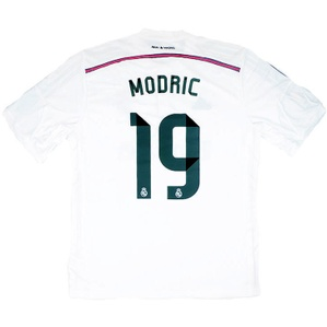 2014-15 Real Madrid Home Shirt Modrić #19 (+ FIFA WC) *w/Tags* XL