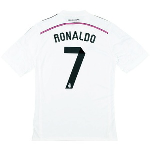 2014-15 Real Madrid Champions League Home Shirt Ronaldo #7 *w/Tags* XL