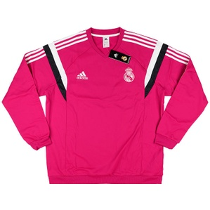 2014-15 Real Madrid Adidas Training Pink Sweat Top *BNIB* XL