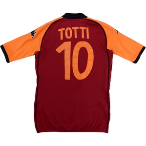 2002-03 Roma CL Home Shirt Totti #10 (Good) L