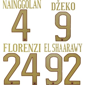 2016-17 Roma Home Special Derby Name Set