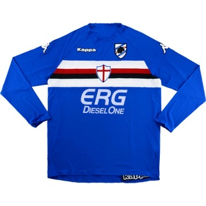 2005-07 Sampdoria Home L/S Shirt *w/Tags* 3XL