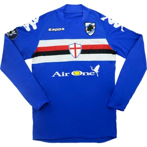 2008-09 Sampdoria Match Worn UEFA Cup Home L/S Shirt Pieri #46 (v Stuttgart)