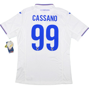 2015-16 Sampdoria Away Shirt Cassano #99 *w/Tags*