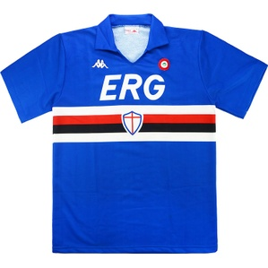 1988-89 Sampdoria Match Worn Cup Winners Cup Home Shirt #3 (Salsano) v Mechelen