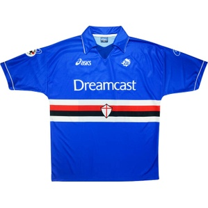 1999-00 Sampdoria Match Issue Home Shirt Pesaresi #9