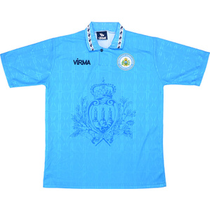 1996-98 San Marino Match Issue Home Shirt #5