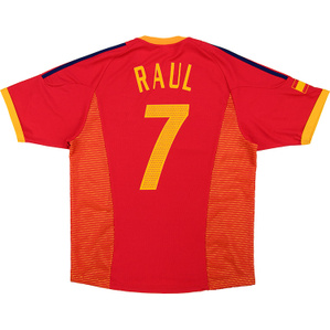 2002-04 Spain Home Shirt Raul #7 (Very Good) L